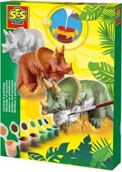 SES Figuren Gieten & Schilderen: Triceratops