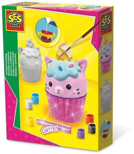 SES - Figuren Gieten en Schilderen Cupcake Kat