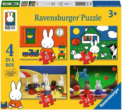 Nijntjes 65e Verjaardag Puzzel (4 in 1)