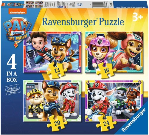 4 in 1 Puzzel - Paw Patrol the Movie
