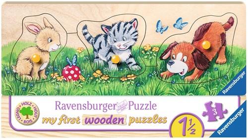 Schattige Babydieren Puzzel (3 stukjes)
