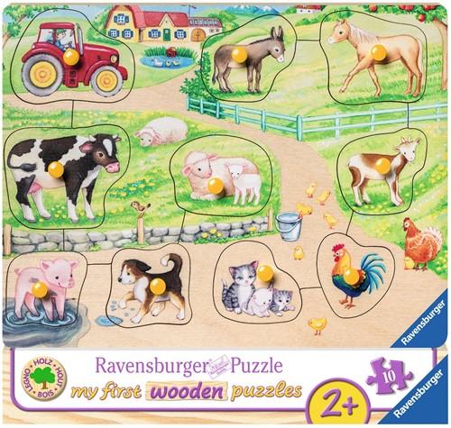 Op de boerderij Puzzel (10 stukjes)