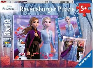 Frozen 2 - De Reis Begint Puzzel (3x49 stukjes)
