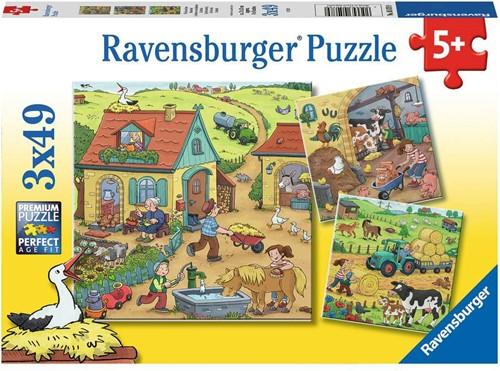 Op de Boerderij Puzzel (3x49 stukjes)