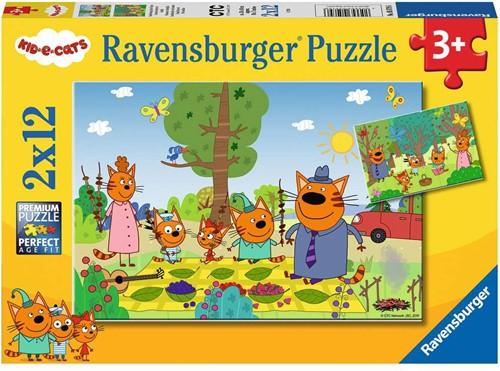 Kid E Cats - Familieuitje Puzzel (2 x 12 stukjes)