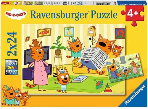 Thuis bij de Kid E Cats Puzzel (2 x 24 stukjes)
