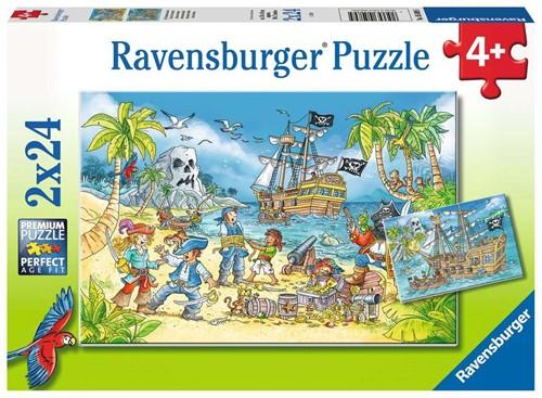 Avontureneiland Puzzel (2 x 24 stukjes)