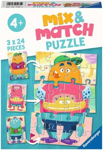 Grappige Monsters Puzzel (3 x 24 stukjes)
