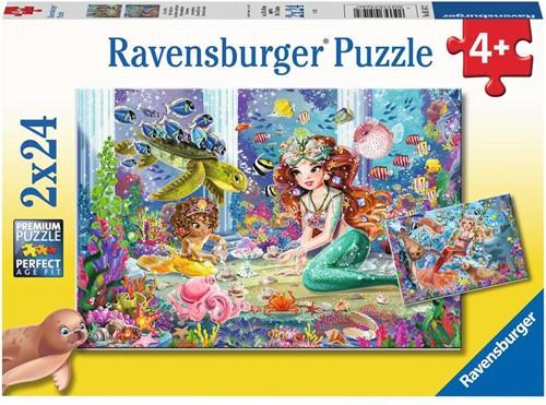 Betoverende Zeemeerminnen Puzzel (2 x 24 stukjes)