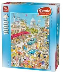 Comic Parijs Puzzel (1000 stukjes)