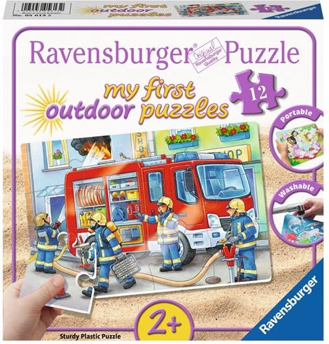De Brandweer Komt Te Hulp Puzzel (12 stukjes)