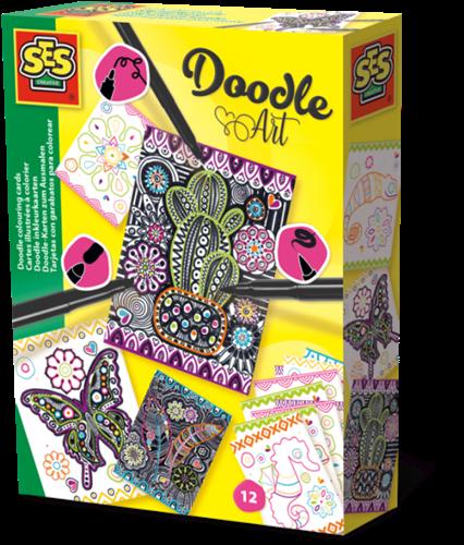 SES - Doodle Inkleurkaarten