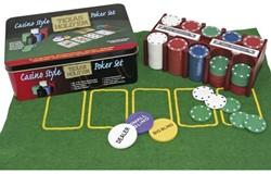 Texas Hold'em Poker Set (Blik beschadigd)