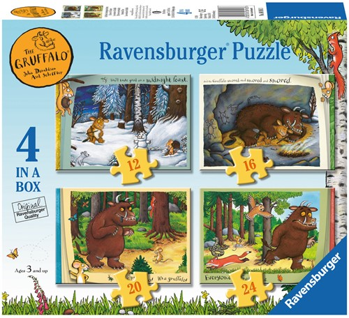 The Gruffalo Puzzel (4 in a box)-1