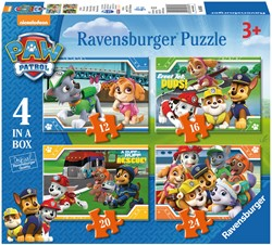 Paw Patrol Puzzel (4 in a box)