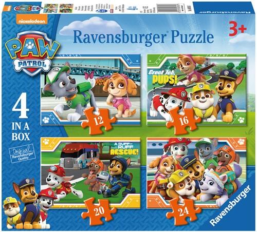 Paw Patrol Puzzel (4 in a box)-1