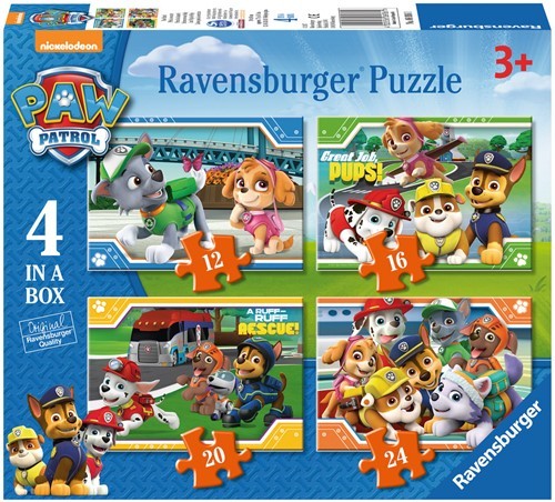 Paw Patrol Puzzel (4 in a box)