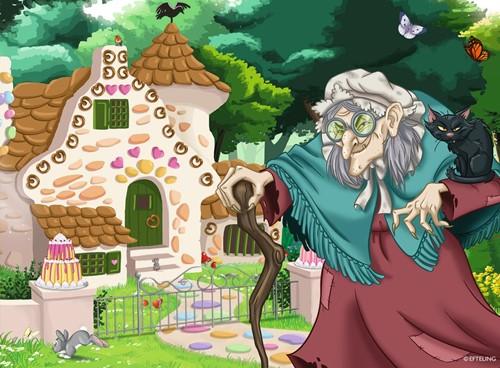 Efteling - Onderweg in het Sprookjesbos Puzzel (4 in 1)-3