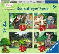 Efteling - Onderweg in het Sprookjesbos Puzzel (4 in 1)