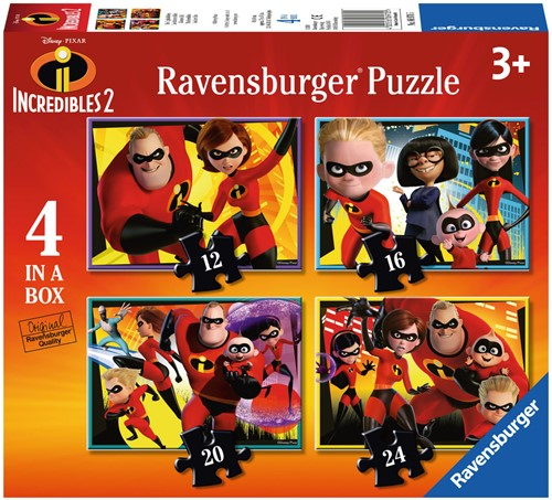 Incredibles 2 Puzzel (4 in 1)