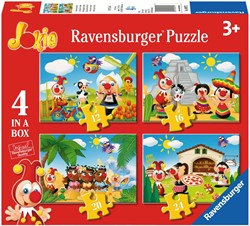 Efteling - Jokie Reist om de Wereld Puzzel (4 in 1 puzzel)