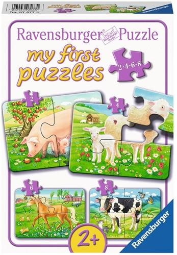 My First - Onze Lievelingsdieren Puzzel (4 in 1)