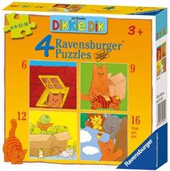 Dikkie Dik Puzzel (4 in 1)