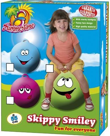 Summertime - Skippybal Smiley 55cm - Roze-1