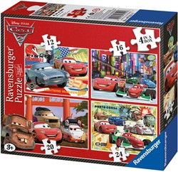Cars 2 - Puzzel (4 in 1)