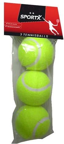 SportX - 3 Tennisballen