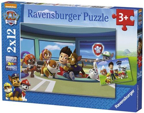 Paw Patrol 2 in 1 Puzzel (2x12 stukjes)