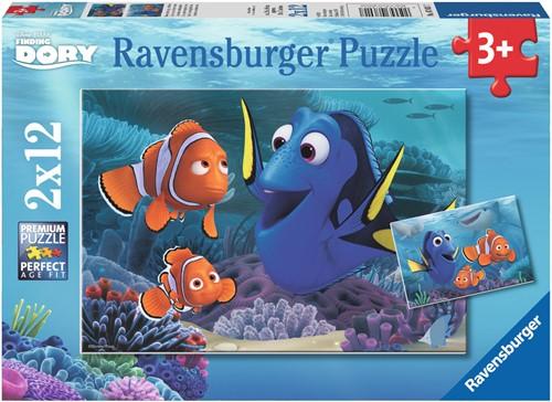 Finding Dory - Onderweg in de Zee Puzzel (2x12 stukjes)-1