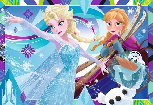 Disney Frozen Plezier in de Winter Puzzel (2x12)-2