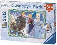 Disney Frozen Plezier in de Winter Puzzel (2x12)-1