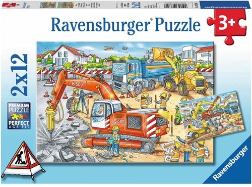 Pas Op, Werkzaamheden! Puzzel (2 x12 stukjes)