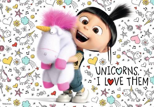 Agnes en de Minions Puzzel - Despicable Me 3 (2x24 stukjes)