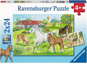 Op de Manege Puzzel (2x24 stukjes)