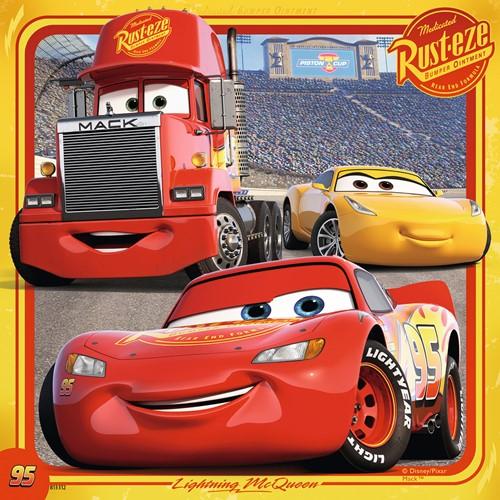 Disney Cars 3 Puzzel - Legendes van de baan (3 x 49 stukjes)