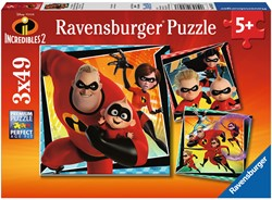Incredibles 2 Puzzel (3 x 49 stukjes)