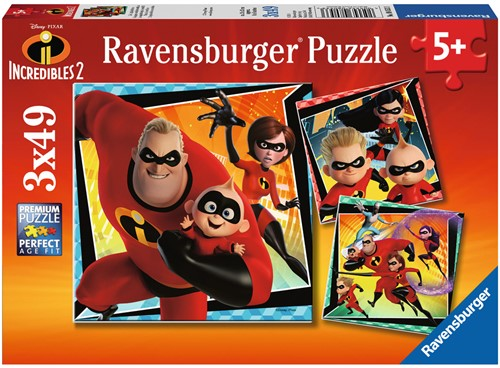 Incredibles 2 Puzzel (3 x 49 stukjes)