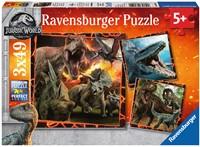 Jurassic World Fallen Kingdom Puzzel (3x49 stukjes)