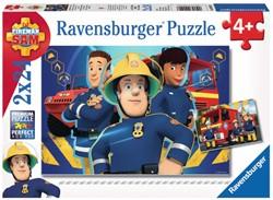 Brandweerman Sam - Helpt Je uit de Brand Puzzel (2x24 stukjes)