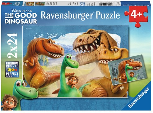 The Good Dinosaur Puzzel (2x24 stukjes)-1