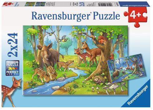 Dieren uit het Bos Puzzel (2 x 24 stukjes)
