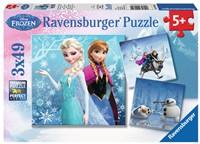 Disney Frozen - Avontuur in Winterland Puzzel (3x49 stukjes)-1