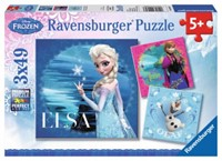 Disney Frozen - Elsa, Anna & Olaf Puzzel (3x49 stukjes)-1
