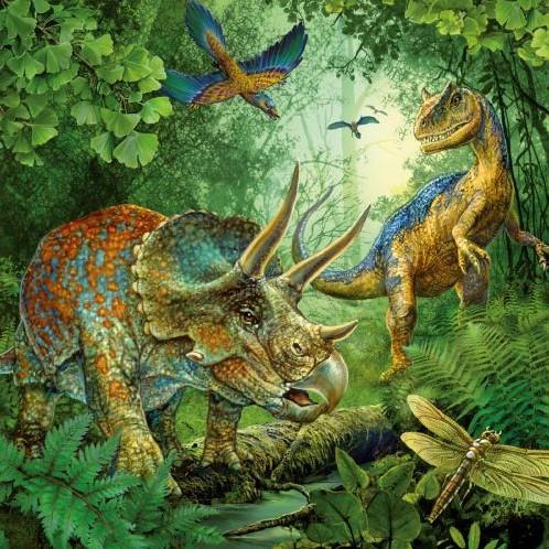 Dinosauriërs Puzzel (3x49 stukjes)-2