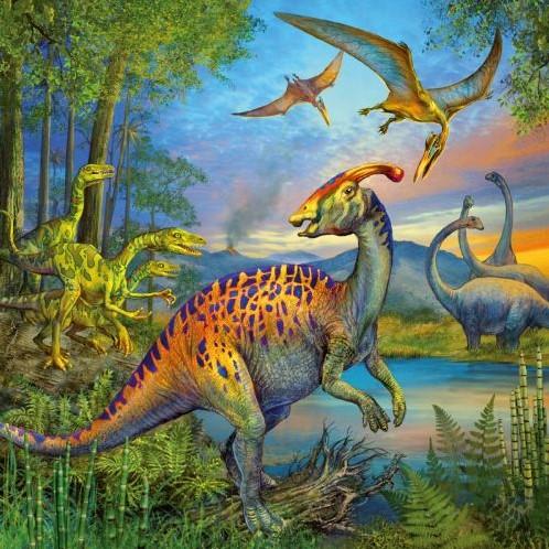 Dinosauriërs Puzzel (3x49 stukjes)-3