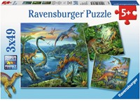 Dinosauriërs Puzzel (3x49 stukjes)