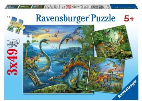 Dinosauriërs Puzzel (3x49 stukjes)-1